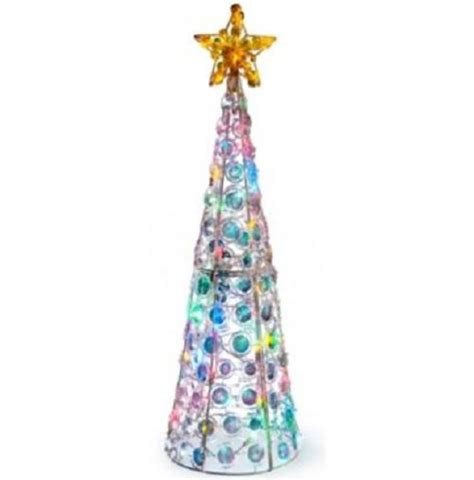 outdoor lighted pre lit cone christmas tree holiday yard