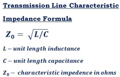 inductance reflected impedance characteristic impedance z 0 calculator