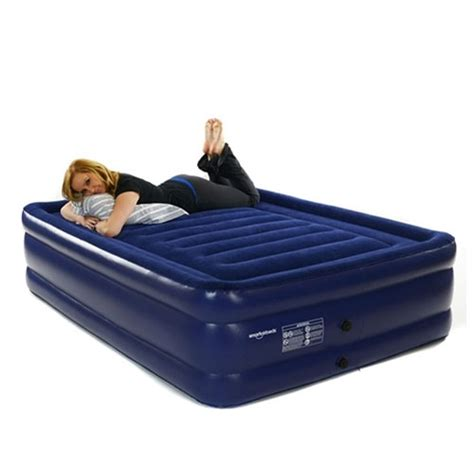 smart air beds deluxe flock top raised size