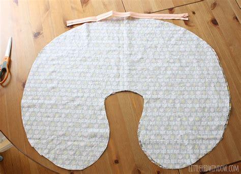 free pattern nursing pillow diy boppy cover pattern little red window
