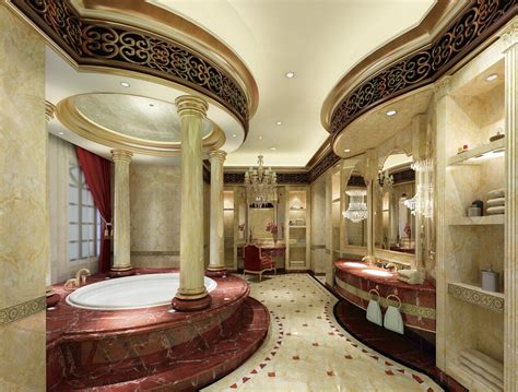european style luxury bathroom interior decoration