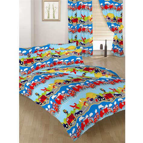 Single Bedding And Curtain Sets Single Size Duvet Cover Set Curtains Bedding Polycotton Children S Ebay