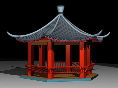hexagon pavilion  model ds max files
