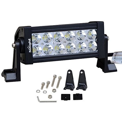 Led Shop Light Bar Nilight 7 36w Spot Led Work Light Road Led Light Bar 12v Driving Lights Bright For