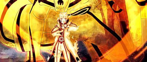 anime yellow wallpaper background naruto bijuu mode shippuden uzumaki anime