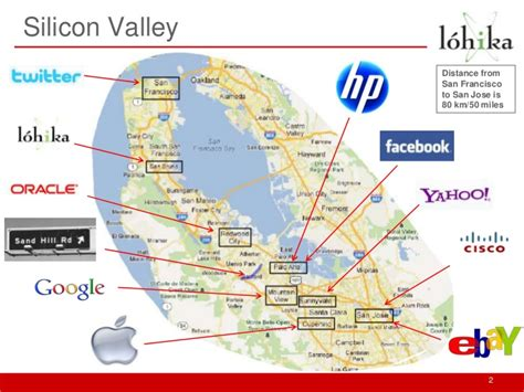 san francisco map silicon valley мark phillips quot intoduction to silicon valley quot