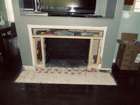 Fireplace Removal by Bricks Fireplace Hearth And Hearth On