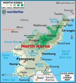 north korea facts on largest cities, populations, symbols