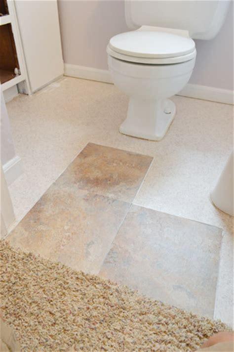 cheap bathroom lino flooring how to set vinyl stick tiles right over ugly linoleum a