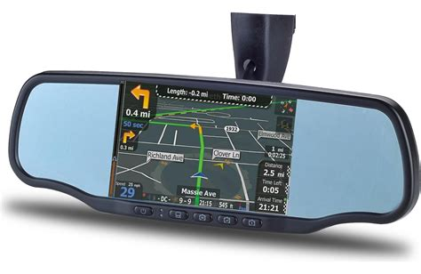 smart nav 5r rearview mirror with gps navigation bluetooth