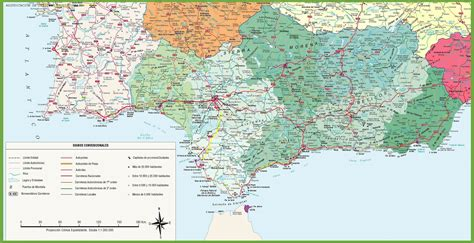 southern spain map andaluc 237 a plan de la ciudad mapas imprimidos de