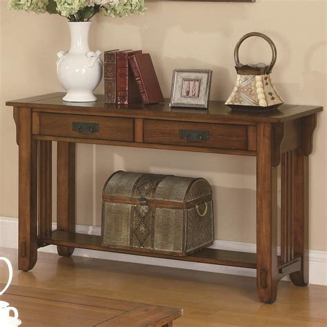 sofa table wood colton brown wood sofa table a sofa furniture