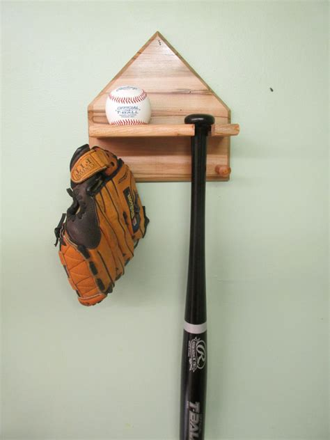home plate baseball bat and display rack ambrosia maple