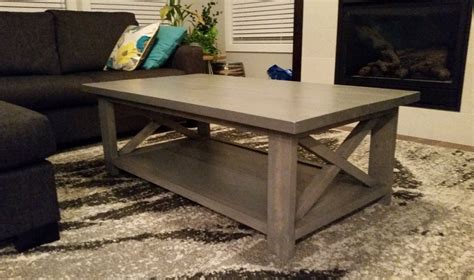 white modern x coffee table diy projects