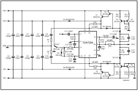 Power Lifier Class H tda7294 power lifier schematics tda7294 get free image