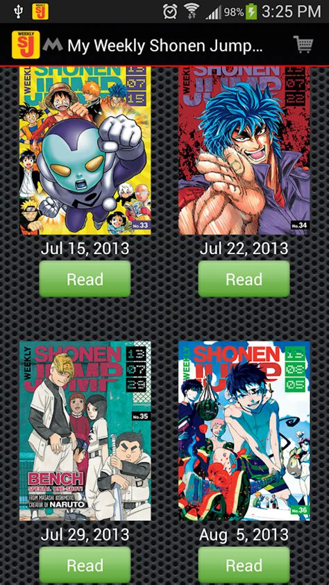 list of shonen jump weekly shonen jump android apps on play