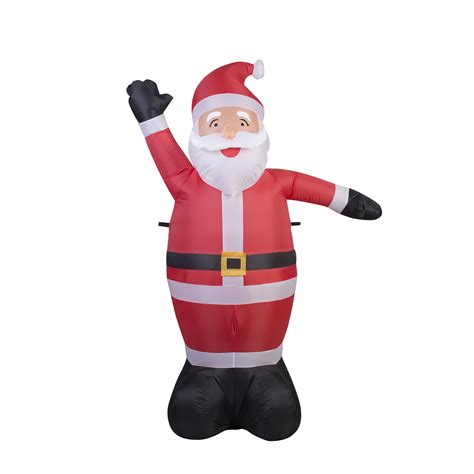 6ft christmas airblown santa with lights seasonal
