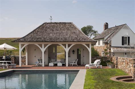 Backyard Kitchens villanova residence pool house traditional exterior
