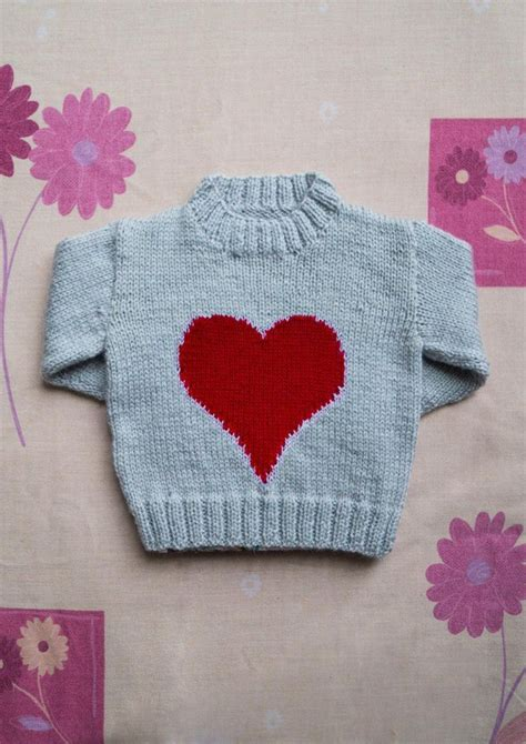 heart intarsia pattern intarsia valentines big heart chart childrens sweater