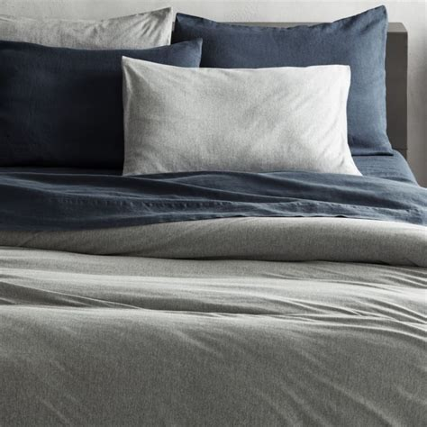 light grey jersey sheets recycled jersey grey bedding cb2