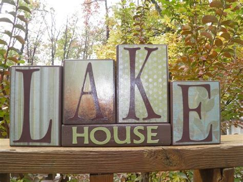 lake house home decor lake house wooden block home decor lake decor