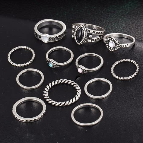 Cincin Silver List Ring New Product 17km cincin midi ring vintage silver jakartanotebook