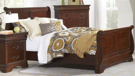 chateau bedroom furniture chateau vintage cherry sleigh bedroom set b4800 51h 51f