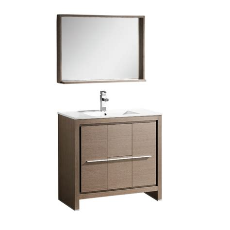 35 inch bathroom vanity 35 5 inch single sink bathroom vanity in gray oak with