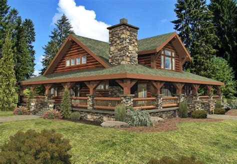 Country Style House Plans With Wrap Around Porches by 28 Log House Designs Decorating Ideas Design Trends