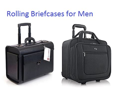 top 10 best rolling briefcases for men in 2018 | travel
