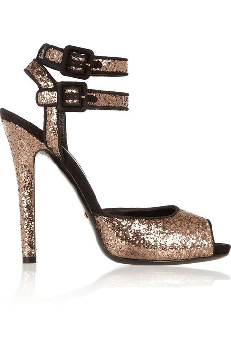 Sandal Gucci Fashion Murah gucci suede trimmed glitter finished sandals net a porter shoes
