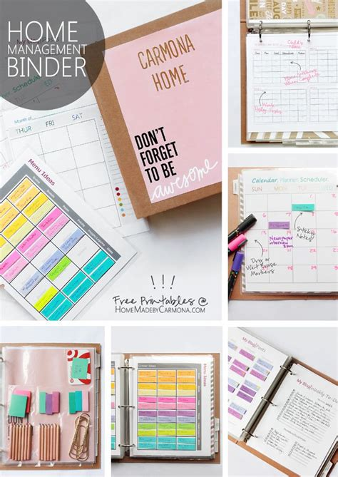 home organization binder 17 best ideas about home management on free family binder printables printable