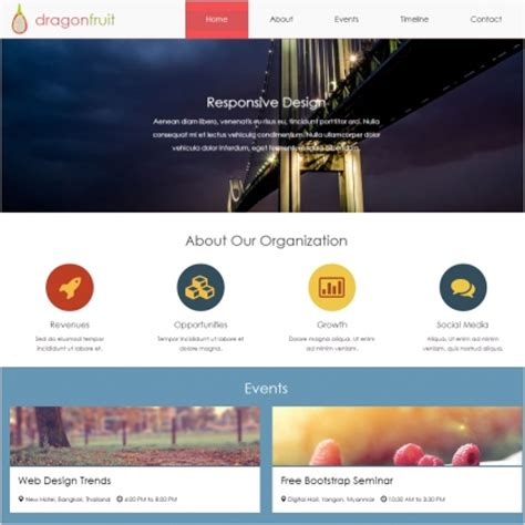 free website templates html css javascript dragonfruit html5 template free website templates in css