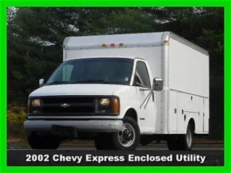 auto body repair training 2002 chevrolet express 3500 parental controls find used 2002 chevrolet express 3500 12 enclosed utility body drw 5 7l gas no reserve in south