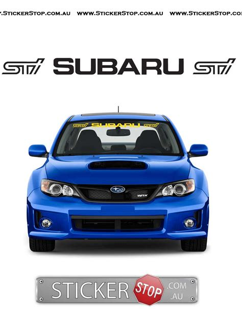 Subaru Windshield Sticker Sticker Stop