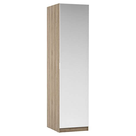 Single Mirrored Wardrobe by House By Lewis Mix It Mirrored Single Wardrobe Grey