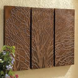 traditional wall decor tree triptych outdoor wall traditional artwork
