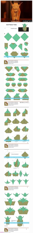 Origami Jedi Master Yoda - origami jedi master yoda kleurplaten