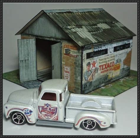 free paper model buildings downloads papercraftsquare com new paper craft old garage free