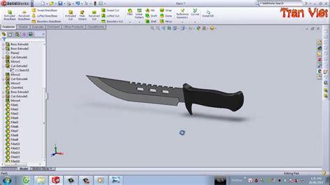 solidworks tutorial knife solidworks tutorial knife columbia youtube