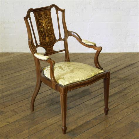 edwardian armchairs edwardian mahogany armchair loveantiques com