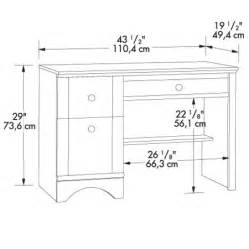 Dimensions Of Computer Desk Bayside Single Pedestal Computer Desk Home Office At