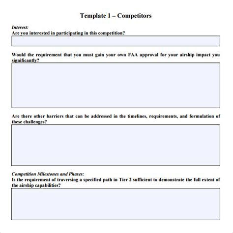 9 Rfp Response Templates For Free Download Sle Templates Free Rfi Form Template