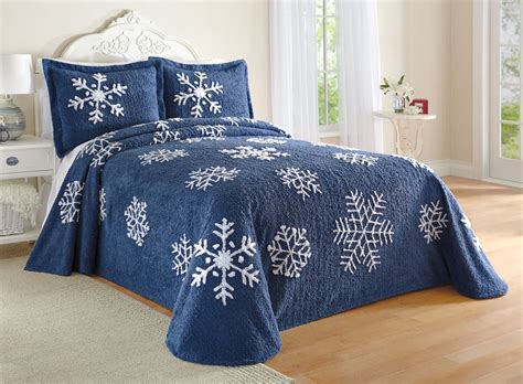 snowflake comforter snowflake chenille bedspread bedding by collections etc