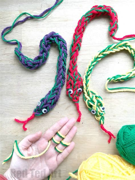 cool things to knit finger knitting snakes ted s