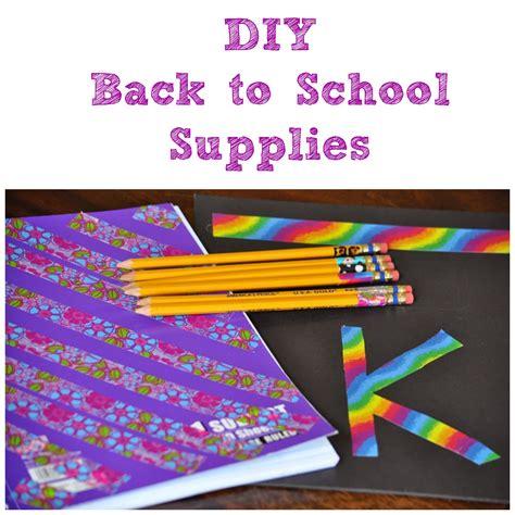 diy school supplies for diy back to school supplies