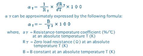 resistor tcr formula resistor temperature coefficient formula 28 images vishay resistors non linear ntc