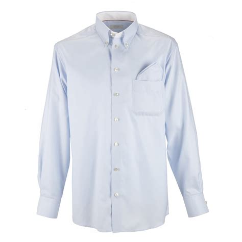 eton blue shirt button collar