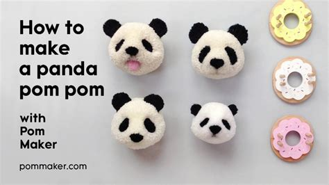 how to a pomeranian how to make a panda pompom pom maker tutorial