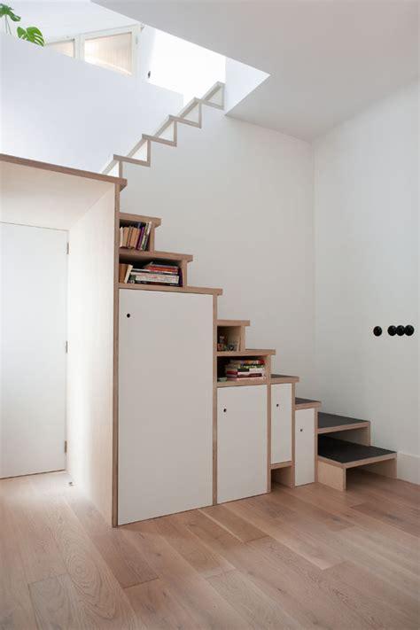 Plywood Stairs Design Space Saving Stair Storage Design In Plywood
